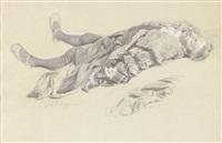 a sketch of a dead man by albert edelfelt