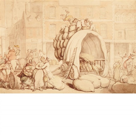 the swan inn nottingham by thomas rowlandson