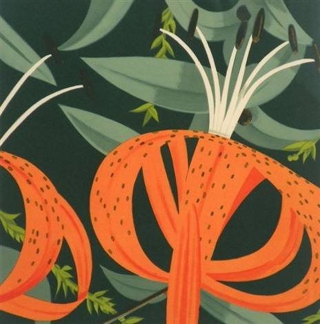 superb lilies by alex katz