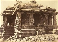 two architectural views at ilwullee, karnataka (2 works) by thomas biggs