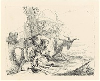 vari capricci (set of 10) by giovanni battista tiepolo