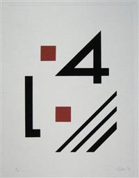 ohne titel (portfolio of 6) by rudolf jahns