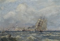 montauk point from great eastern rock buoy by reynolds beal