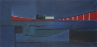 composition bleue by jean piaubert