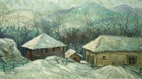 a winter landscape by doncho zankov