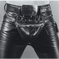 leather crotch by robert mapplethorpe