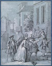 les fables de la fonataine: le fou qui vend la sagesse by jean-baptiste oudry