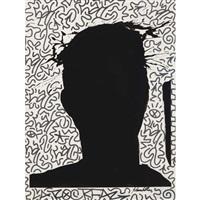 untitled (shadow head #5) by richard hambleton and la ii