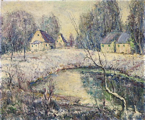 winter by ernest lawson