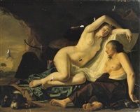diana and her nymphs resting in a grotto by willem verschoor