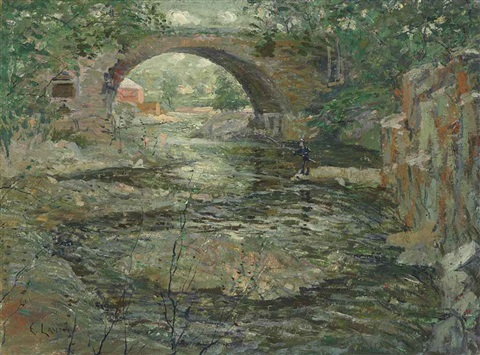 old stone bridge by ernest lawson