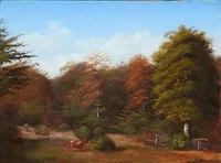 an autumn forest by peter (johann p.) raadsig
