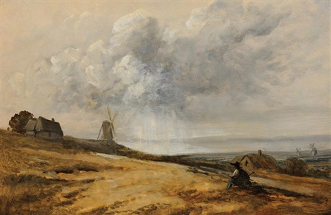 paysage au moulin by georges michel