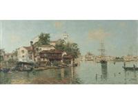 a venetian canal by antonio maría de reyna manescau