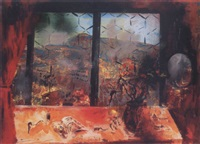 kilátás szigligeti házamból (view from my house in szigliget) by sándor altorjai
