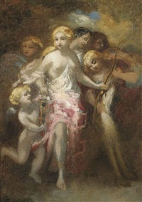venus and an entourage of sibyls by marie-abraham rosalbin de buncey