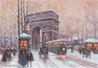 l'arc de triomphe by edouard léon cortès