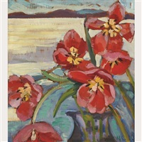 red flowers by nora frances elisabeth collyer