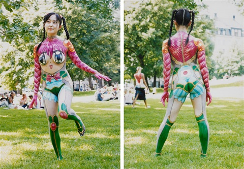 body painting with koe in stockholm another 2 works by makoto aida