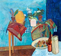 stilleben med blå variationer (still life with blue variations) by axel nilsson