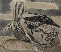 untitled- beach rocks and tree by bruno joseph bobak