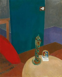 stillleben mit fayence (still life with faience) by fritz glarner