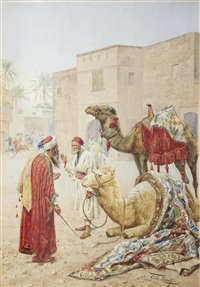 the camel seller by giulio rosati