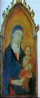 madonna das kind haltend by simone martini