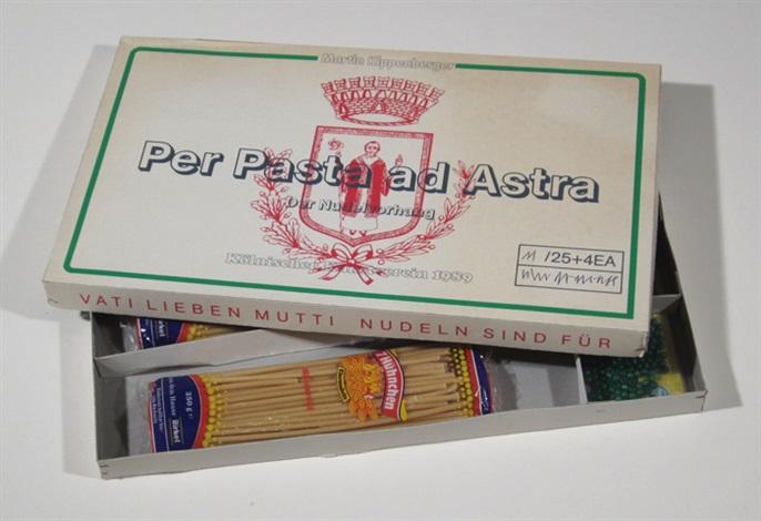 per pasta ad astra der nudelvorhang by martin kippenberger