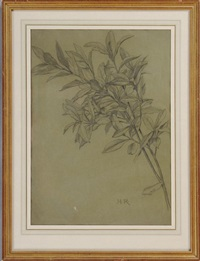 study of bay leaves by henry ryland