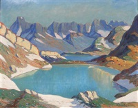 matinée au lac de st sorlié d'arves, maurienne by julien bouvier