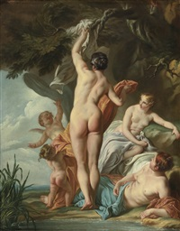 venus and her companions by noël nicolas coypel