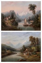 paysages de montagne animés (2 works) by a. gins