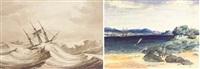 sketches taken on the voyage to america (portfolio of 9) by francois mathurin adalbert