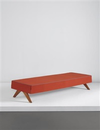 daybed, model no. pj-l-12-a, designed for the administrative buildings and private residences, chandigarh by pierre jeanneret
