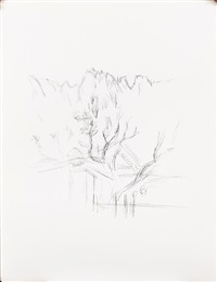 paysages aux arbres by alberto giacometti