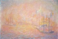 le port de new york by theodore earl butler