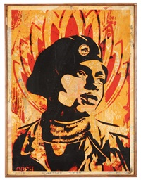 black panther by shepard fairey