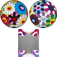 flowers have bloomed/ flower ball (algae ball)/ flower dumpling (set of 3) by takashi murakami