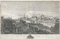 vue exterieure de la porte d'italie des rempars de la ville de dresden by bernardo bellotto