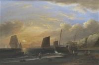 sailing near teignmouth by thomas luny