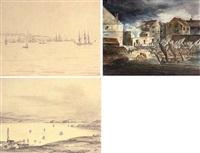 entrée de la rade de québec -- pointe de l'isle d'orleans (+ 5 others; 6 works) by francois mathurin adalbert