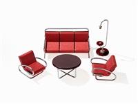 miniature sample furniture by jindrich halabala