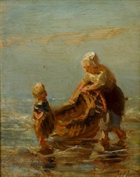 mother and child by jozef israëls