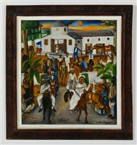 untitled (leaving church on horseback) by wilson bigaud
