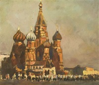 red square, moscow by konstantin mikhailovich antonov