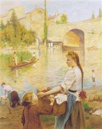 les lavandiéres à pont-sur-yonne by andré chabellard
