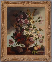 table top still life with flowers and fruit by gaspar pieter verbruggen the younger