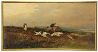 hunting scene by rudolf frentz the elder