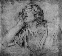 study of a resting male figure by giovanni maria viani
